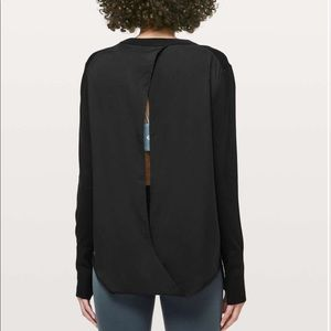 NWT lululemon Still at Ease Pullover Sz 10 black